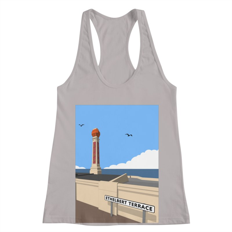 Cliftonville Lido, Margate Women's Racerback Tank by Pig's Ear Gear on Threadless