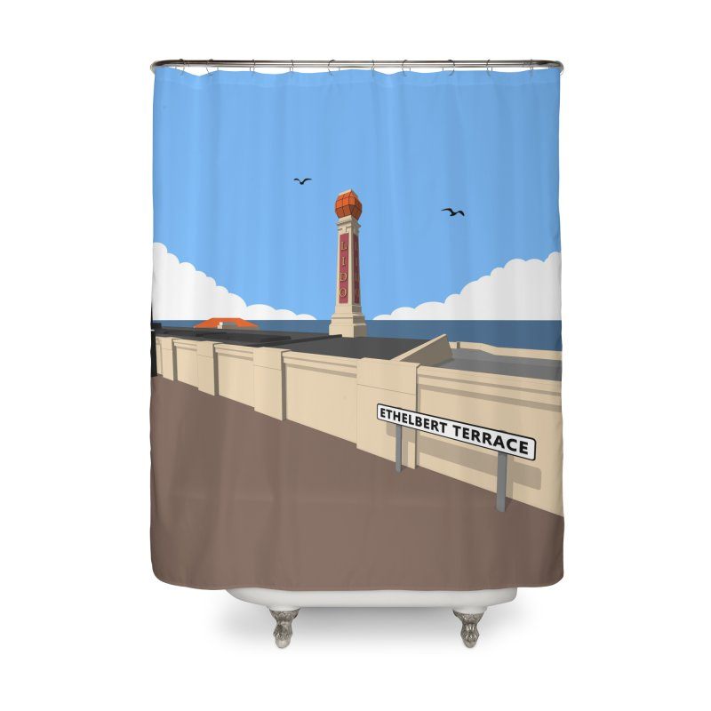 Cliftonville Lido, Margate Home Shower Curtain by Pig's Ear Gear on Threadless