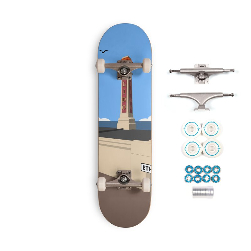 Cliftonville Lido, Margate Accessories Complete - Basic Skateboard by Pig's Ear Gear on Threadless