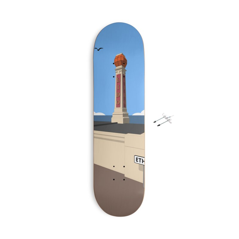 Cliftonville Lido, Margate Accessories With Hanging Hardware Skateboard by Pig's Ear Gear on Threadless