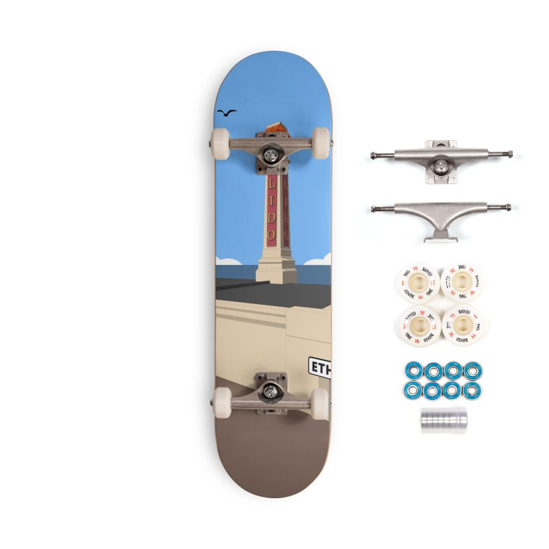 Cliftonville Lido, Margate Accessories Complete - Premium Skateboard by Pig's Ear Gear on Threadless