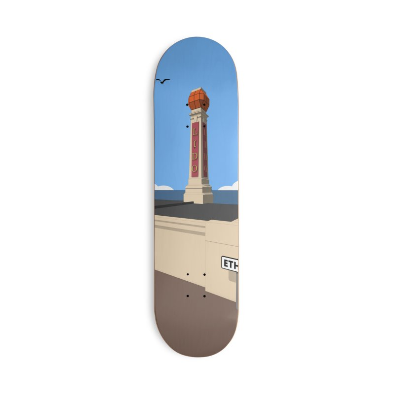 Cliftonville Lido, Margate Accessories Deck Only Skateboard by Pig's Ear Gear on Threadless