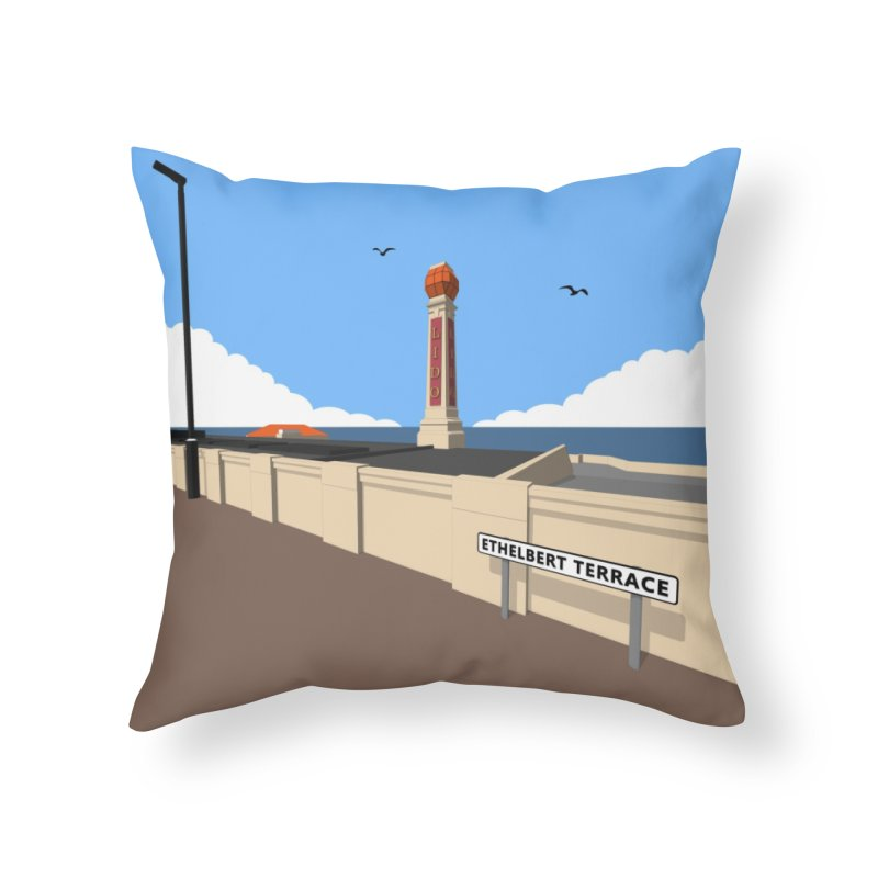 Cliftonville Lido, Margate Home Throw Pillow by Pig's Ear Gear on Threadless
