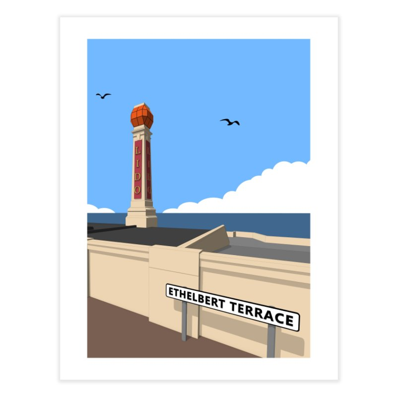 Cliftonville Lido, Margate Home Fine Art Print by Pig's Ear Gear on Threadless