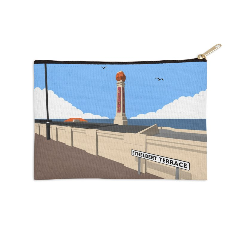 Cliftonville Lido, Margate Accessories Zip Pouch by Pig's Ear Gear on Threadless