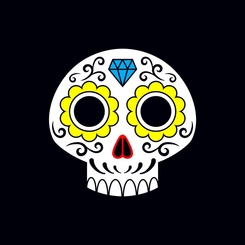 Sugar Skull for a cake Home Shower Curtain by Pig's Ear Gear on Threadless