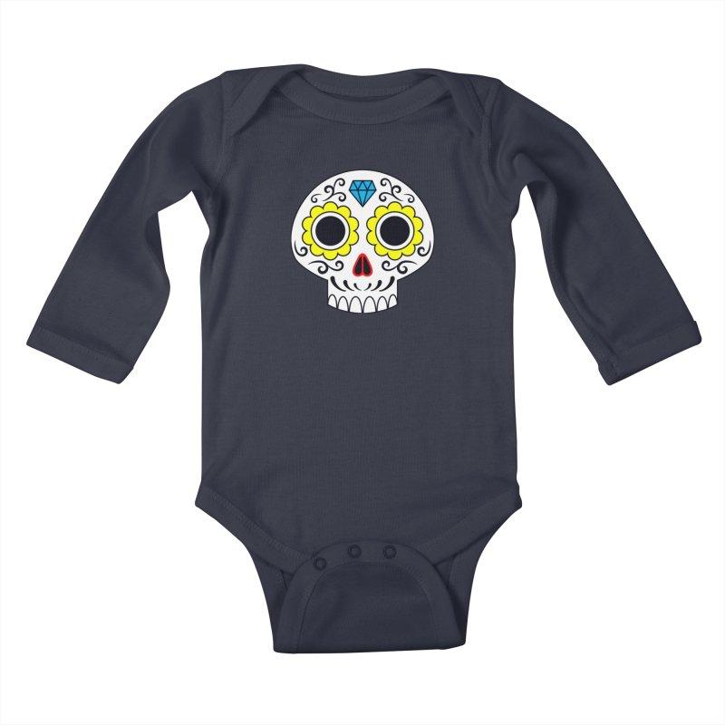 Sugar Skull for a cake Kids Baby Longsleeve Bodysuit by Pig's Ear Gear on Threadless