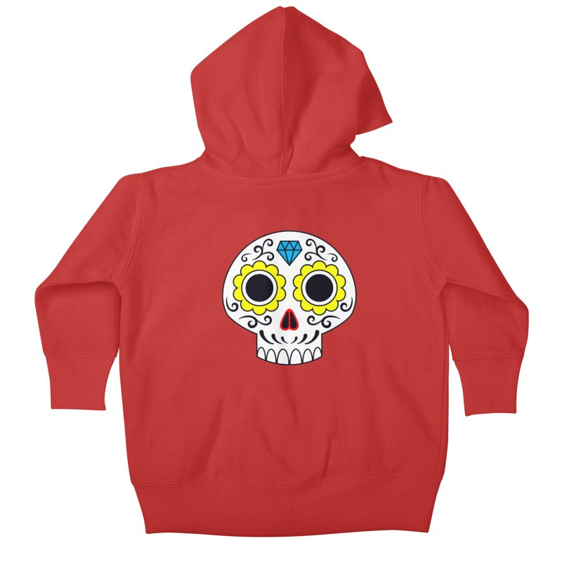Sugar Skull for a cake Kids Baby Zip-Up Hoody by Pig's Ear Gear on Threadless