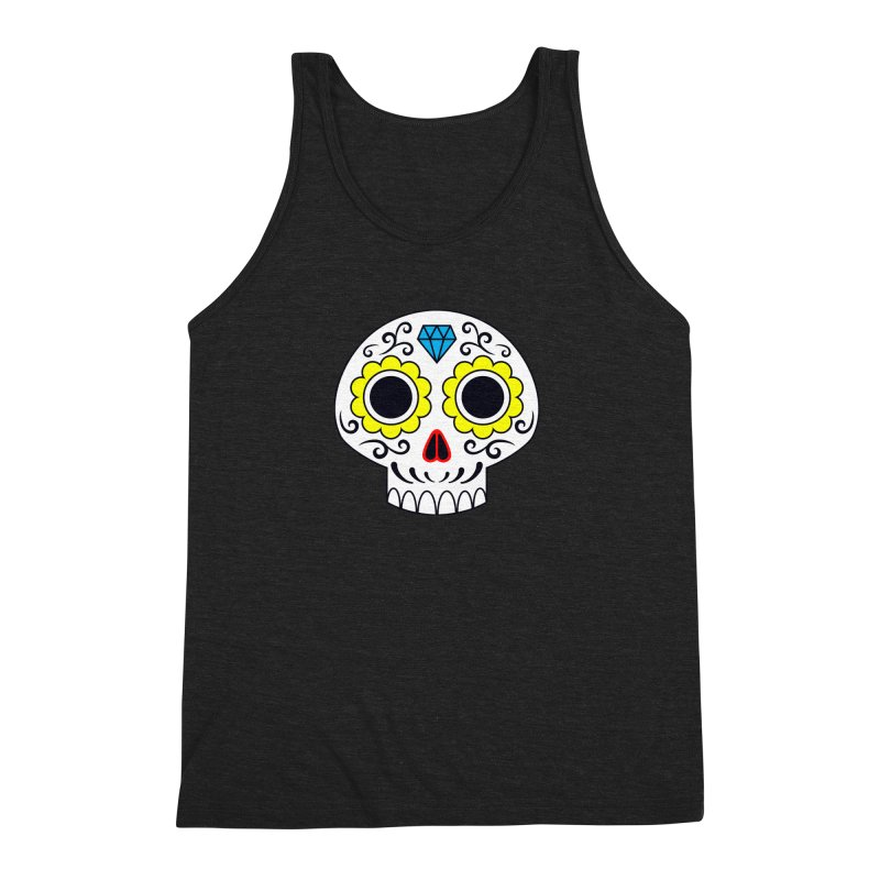Sugar Skull for a cake Men's Triblend Tank by Pig's Ear Gear on Threadless
