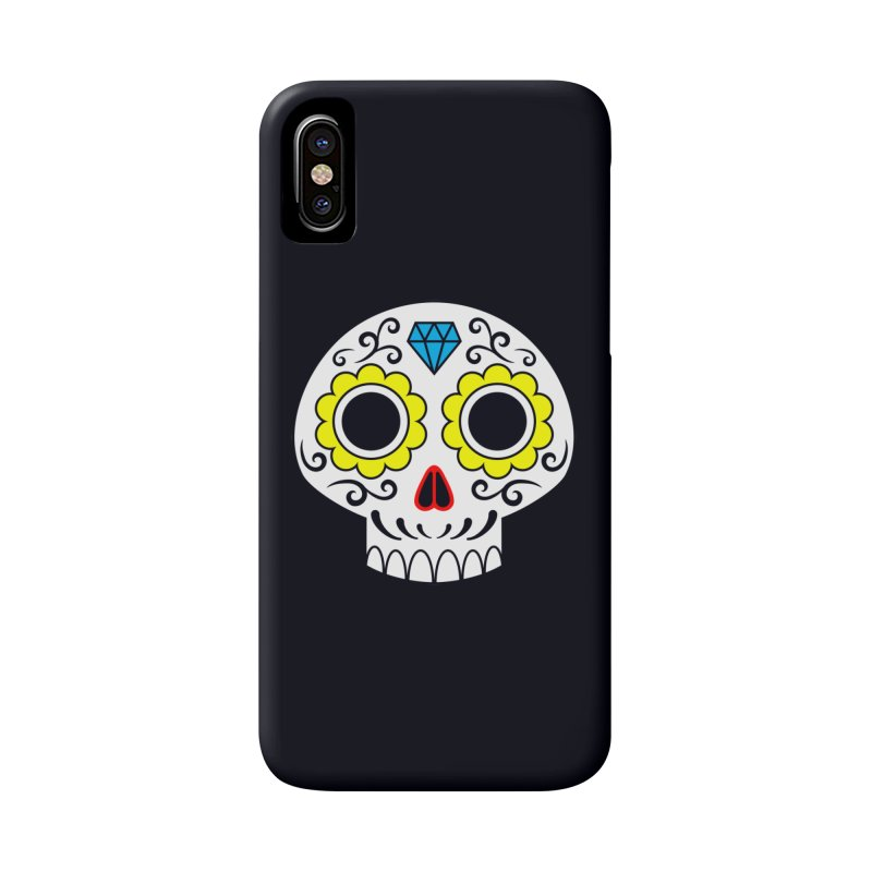 Sugar Skull for a cake Accessories Phone Case by Pig's Ear Gear on Threadless