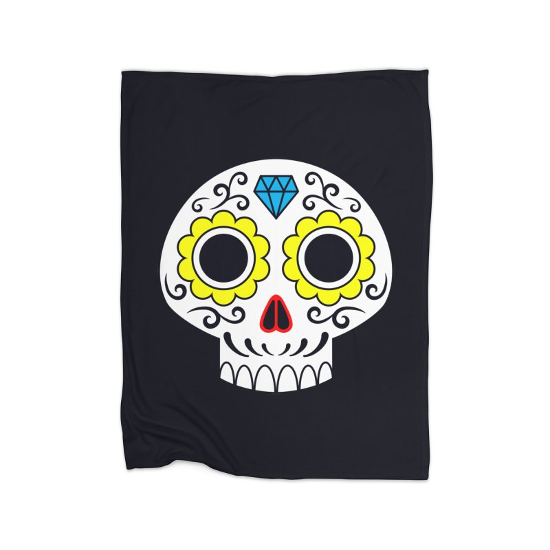 Sugar Skull for a cake Home Blanket by Pig's Ear Gear on Threadless