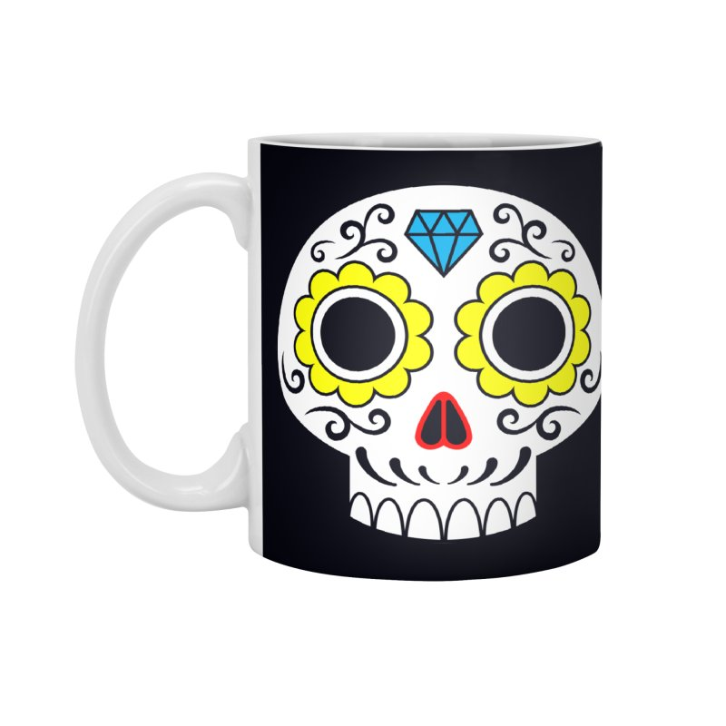 Sugar Skull for a cake Accessories Mug by Pig's Ear Gear on Threadless
