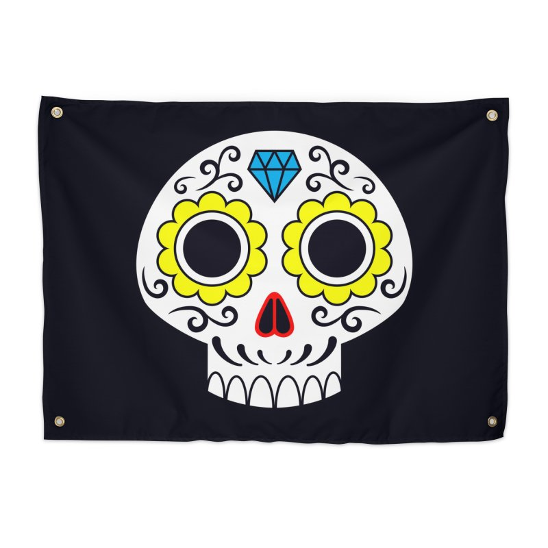 Sugar Skull for a cake Home Tapestry by Pig's Ear Gear on Threadless