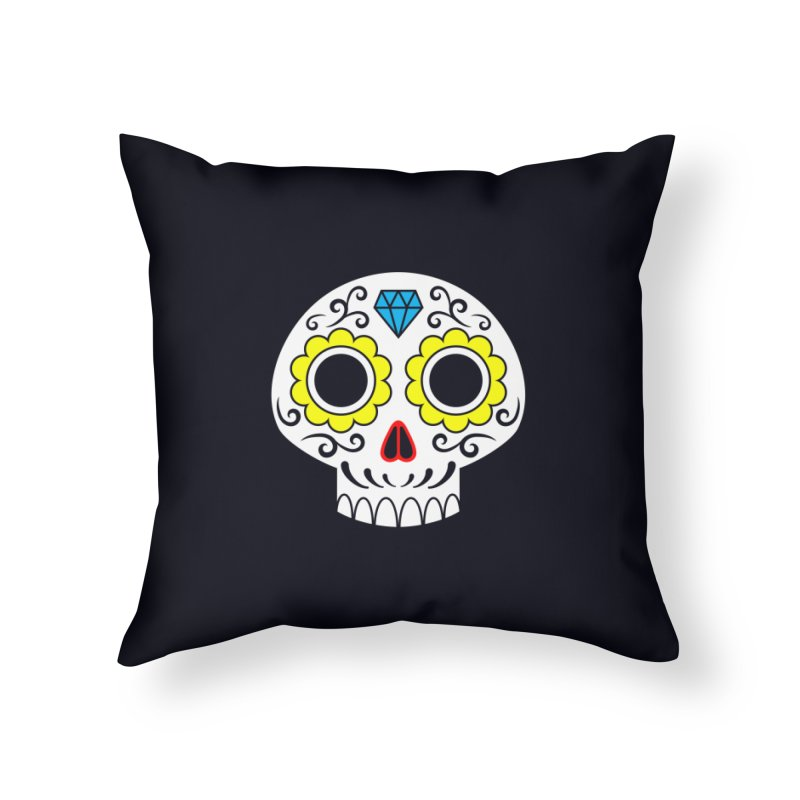 Sugar Skull for a cake Home Throw Pillow by Pig's Ear Gear on Threadless