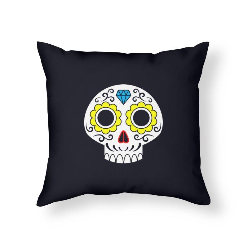 Sugar Skull for a cake Home Throw Pillow by Pig's Ear Gear on Threadless