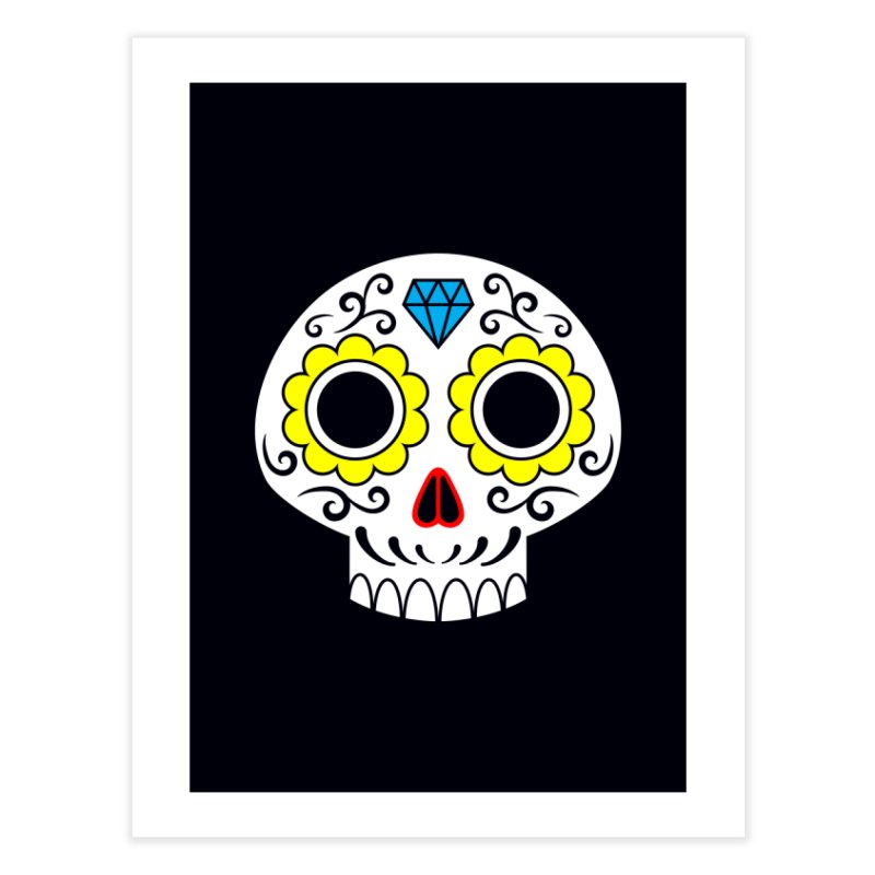 Sugar Skull for a cake Home Fine Art Print by Pig's Ear Gear on Threadless