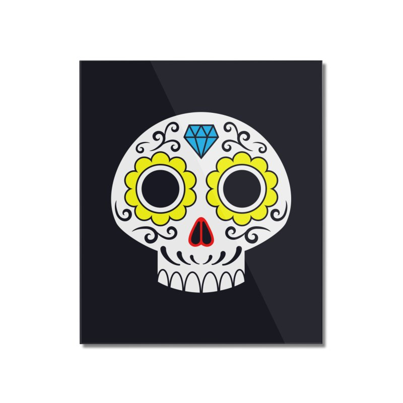 Sugar Skull for a cake Home Mounted Acrylic Print by Pig's Ear Gear on Threadless