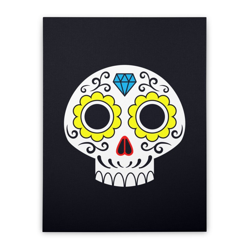 Sugar Skull for a cake Home Stretched Canvas by Pig's Ear Gear on Threadless
