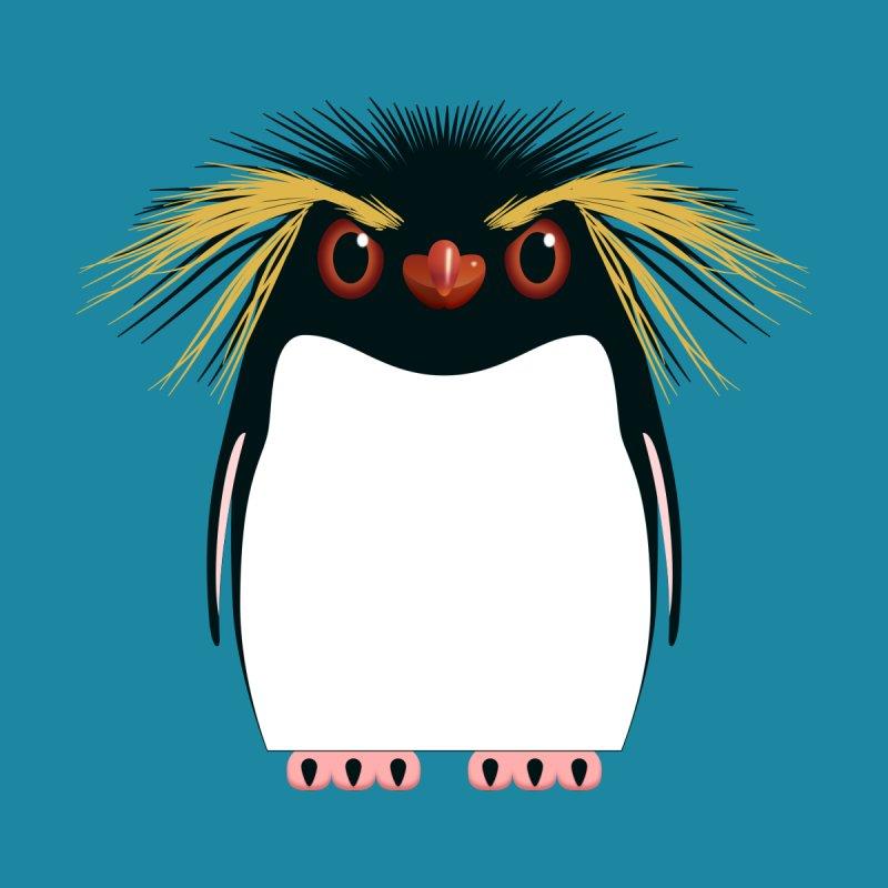 Rockhopper Penguin Accessories Zip Pouch by Pig's Ear Gear on Threadless