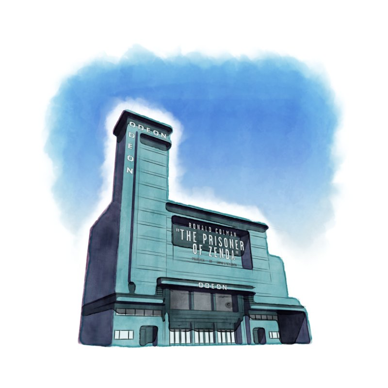 ODEON Leicester Square - Watercolour Accessories Zip Pouch by Pig's Ear Gear on Threadless