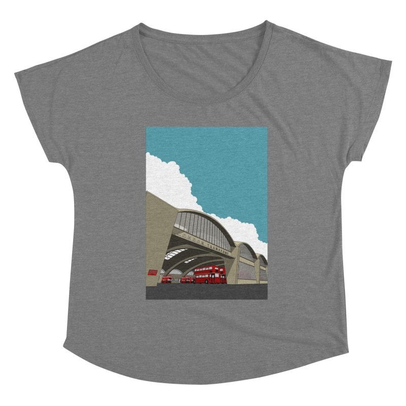 Stockwell Bus Garage 1952 Women's Scoop Neck by Pig's Ear Gear on Threadless