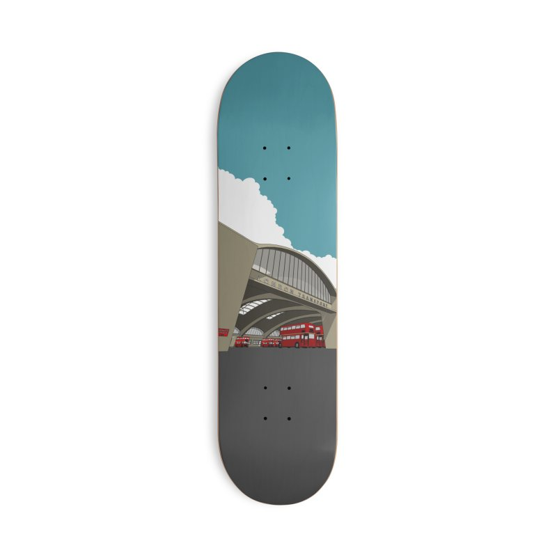 Stockwell Bus Garage 1952 Accessories Skateboard by Pig's Ear Gear on Threadless