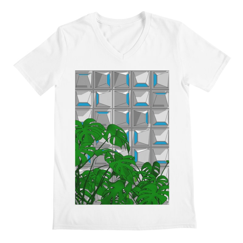 Block and Plant: Monstera Men's V-Neck by Pig's Ear Gear on Threadless