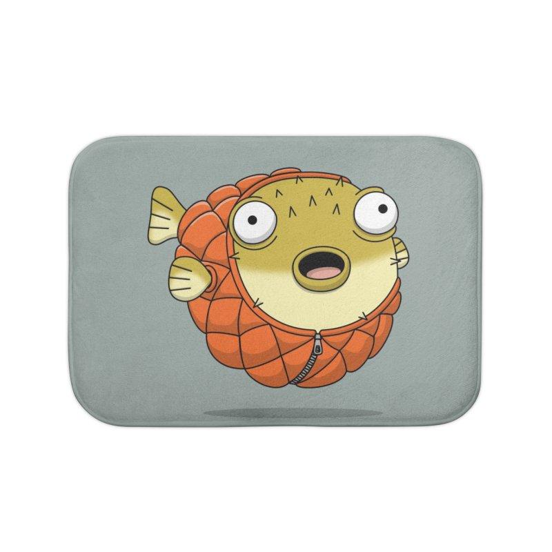 Puffer Fish Home Bath Mat by Pig's Ear Gear on Threadless