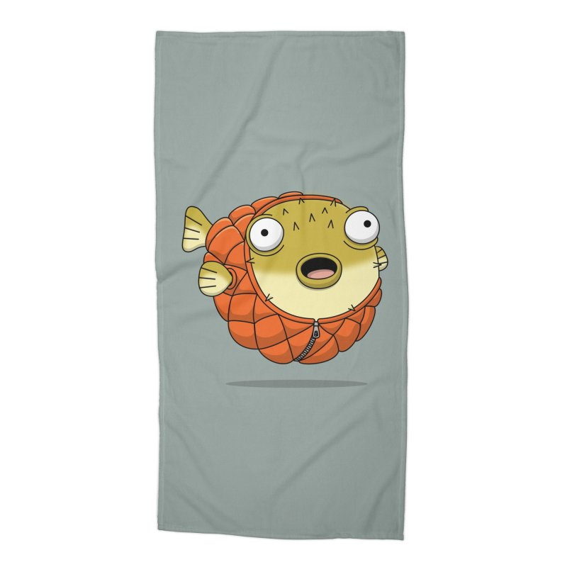 Puffer Fish Accessories Beach Towel by Pig's Ear Gear on Threadless