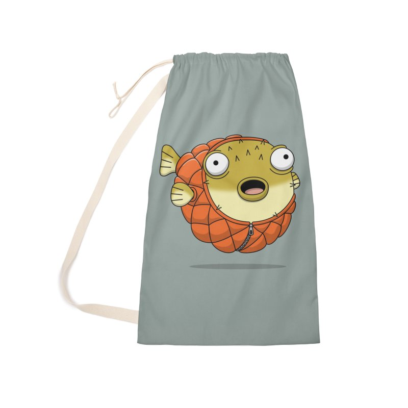 Puffer Fish Accessories Laundry Bag Bag by Pig's Ear Gear on Threadless