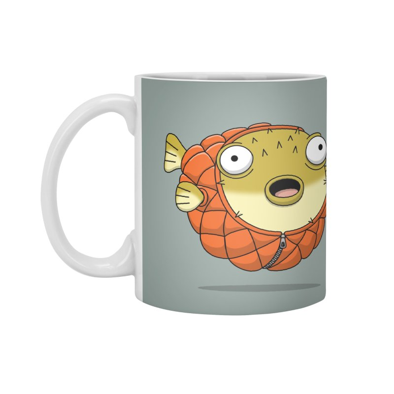 Puffer Fish Accessories Mug by Pig's Ear Gear on Threadless