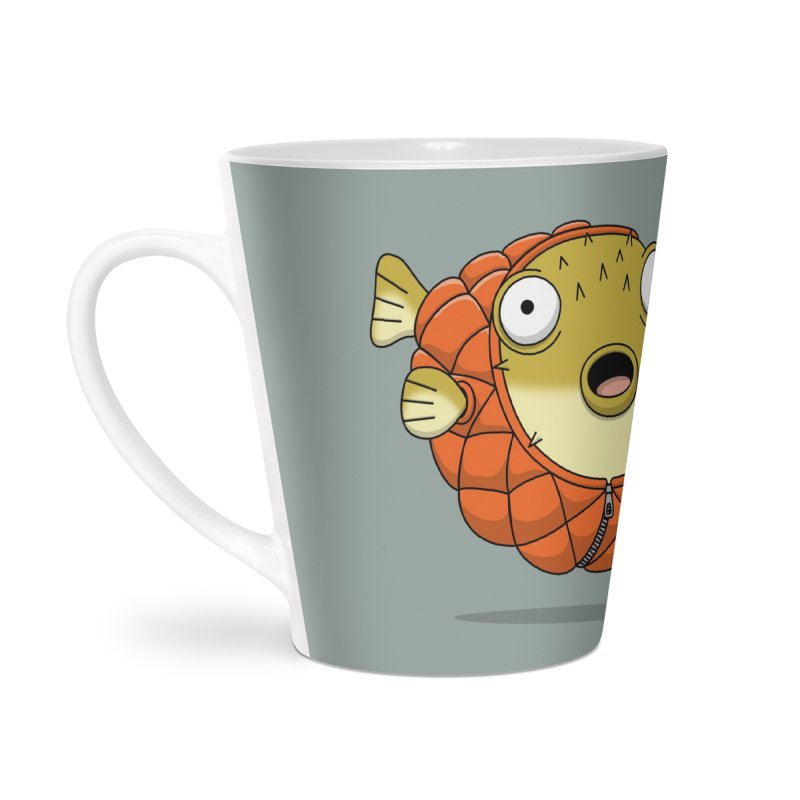 Puffer Fish Accessories Latte Mug by Pig's Ear Gear on Threadless