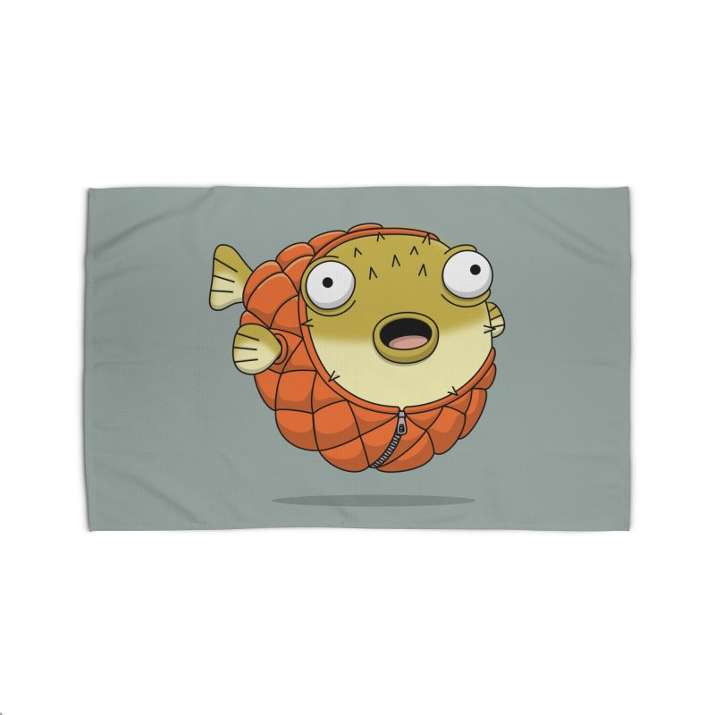 Puffer Fish Home Rug by Pig's Ear Gear on Threadless