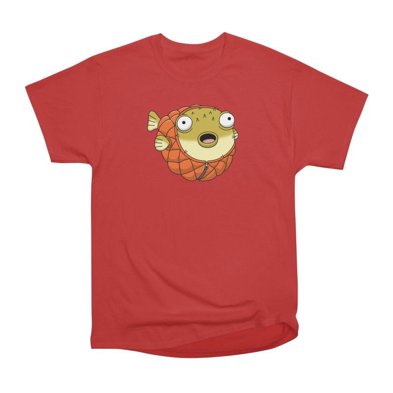 Puffer Fish Men's Heavyweight T-Shirt by Pig's Ear Gear on Threadless