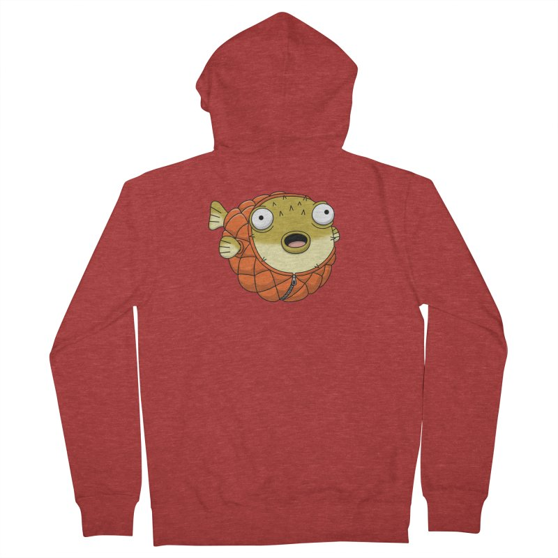 Puffer Fish Men's French Terry Zip-Up Hoody by Pig's Ear Gear on Threadless