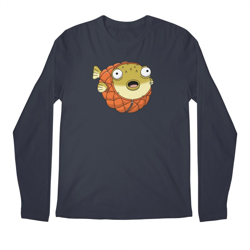 Puffer Fish Men's Regular Longsleeve T-Shirt by Pig's Ear Gear on Threadless