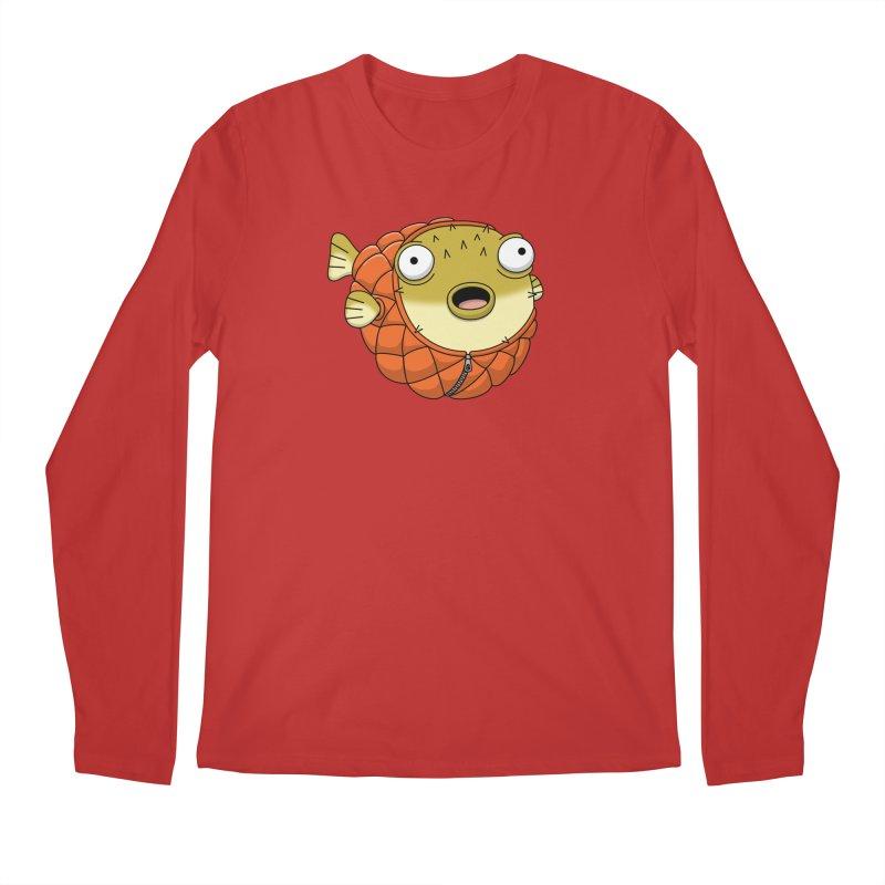 Puffer Fish Men's Regular Longsleeve T-Shirt by Pig's Ear Gear on Threadless