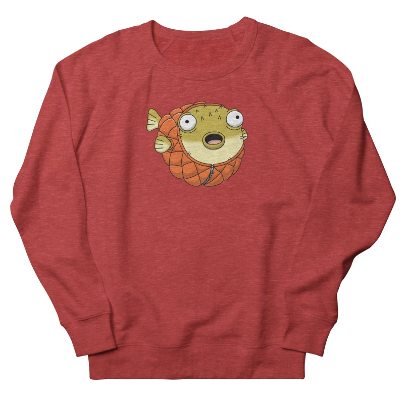 Puffer Fish Men's French Terry Sweatshirt by Pig's Ear Gear on Threadless