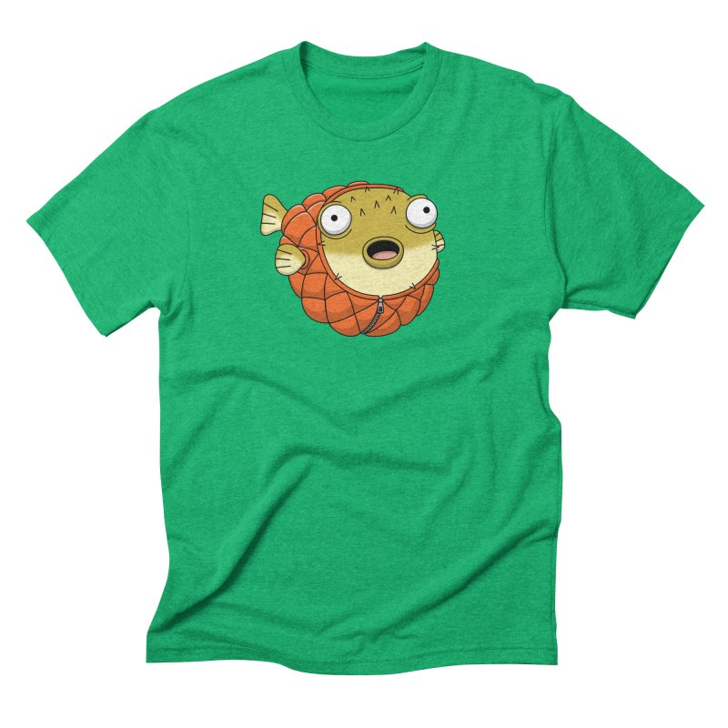 Puffer Fish Men's Triblend T-Shirt by Pig's Ear Gear on Threadless