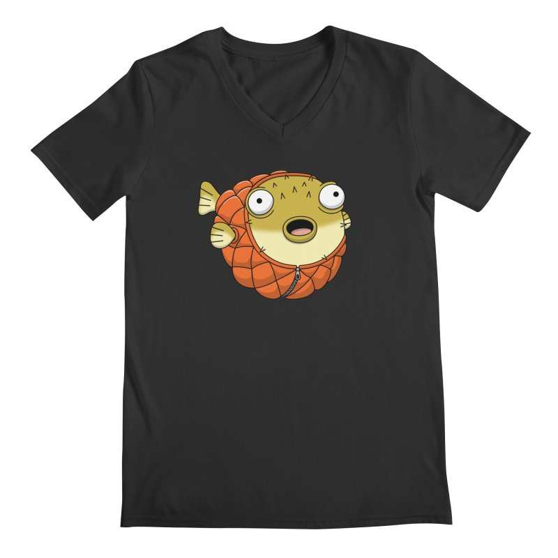 Puffer Fish Men's V-Neck by Pig's Ear Gear on Threadless
