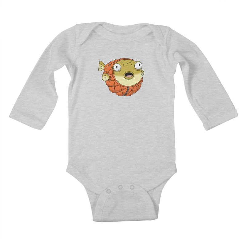 Puffer Fish Kids Baby Longsleeve Bodysuit by Pig's Ear Gear on Threadless