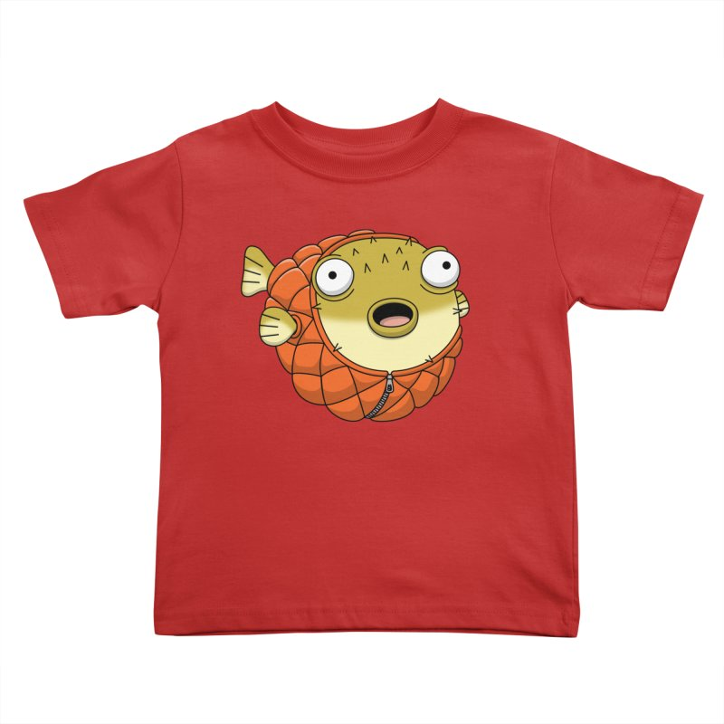 Puffer Fish Kids Toddler T-Shirt by Pig's Ear Gear on Threadless