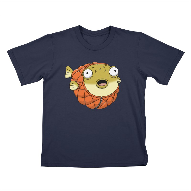 Puffer Fish Kids T-Shirt by Pig's Ear Gear on Threadless