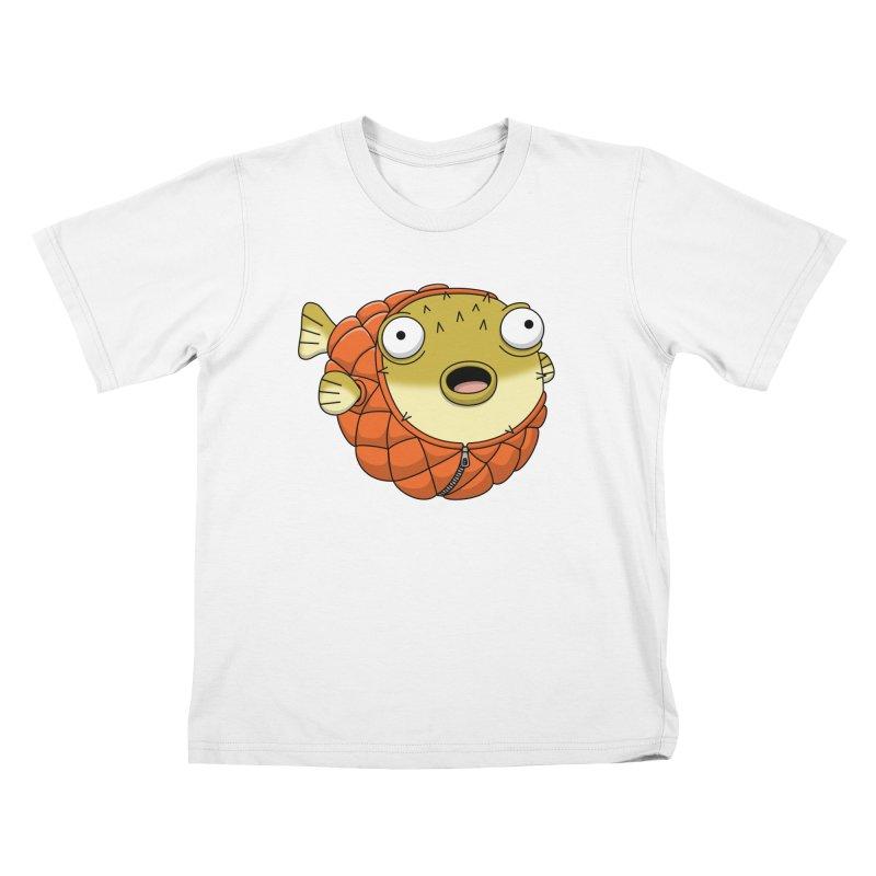 Puffer Fish Kids T-Shirt by Pig's Ear Gear on Threadless