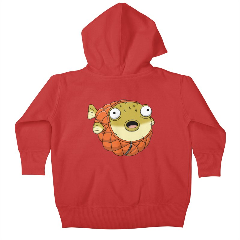 Puffer Fish Kids Baby Zip-Up Hoody by Pig's Ear Gear on Threadless