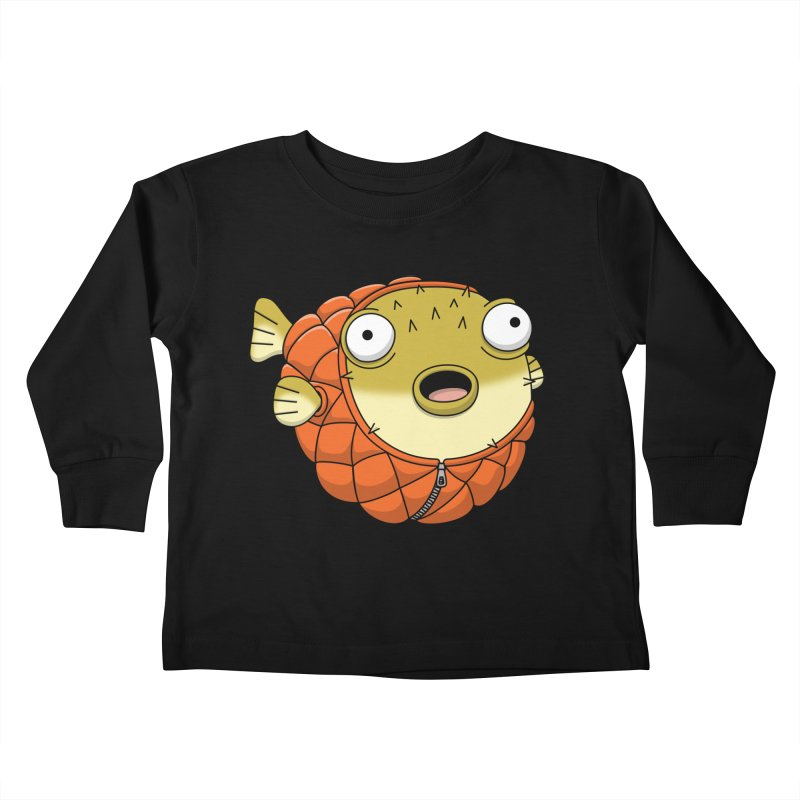 Puffer Fish Kids Toddler Longsleeve T-Shirt by Pig's Ear Gear on Threadless