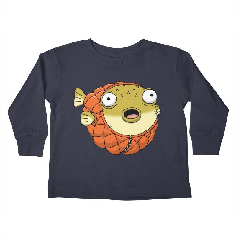 Puffer Fish Kids Toddler Longsleeve T-Shirt by Pig's Ear Gear on Threadless
