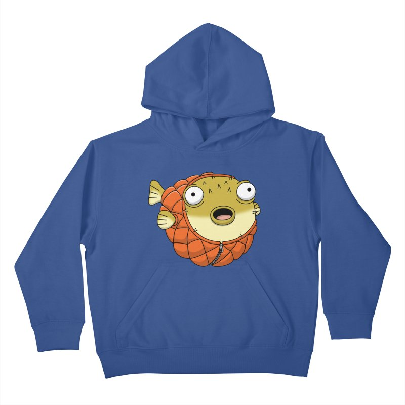 Puffer Fish Kids Pullover Hoody by Pig's Ear Gear on Threadless