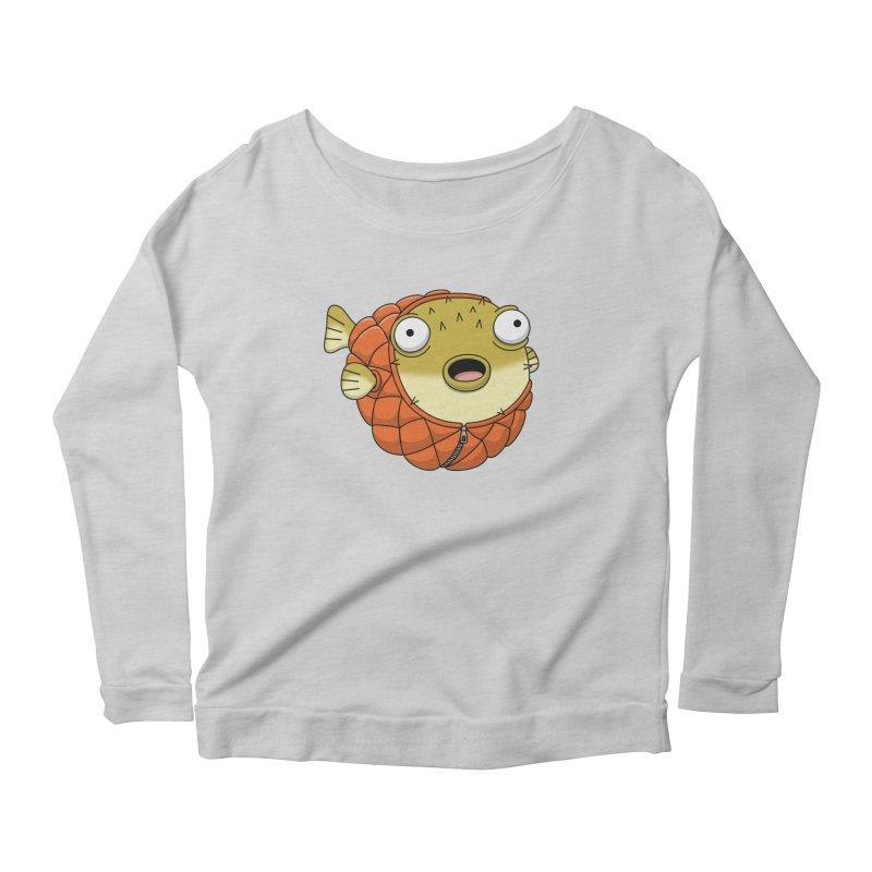 Puffer Fish Women's Scoop Neck Longsleeve T-Shirt by Pig's Ear Gear on Threadless