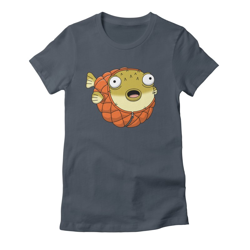 Puffer Fish Women's Fitted T-Shirt by Pig's Ear Gear on Threadless
